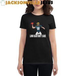 Long Hair Don't Care Jacksonville Trevor Lawrence Women's short sleeve t-shirt