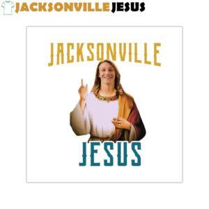 Jacksonville Jesus ( Trevor Lawrence ) Square Vinyl Stickers