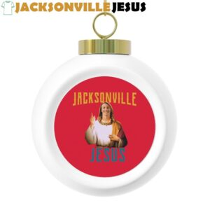 Jacksonville Jesus ( Trevor Lawrence ) Christmas Ball Ornament